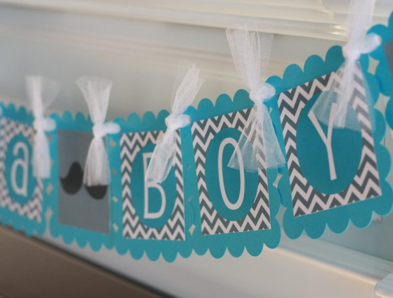 turquoise baby shower decorations