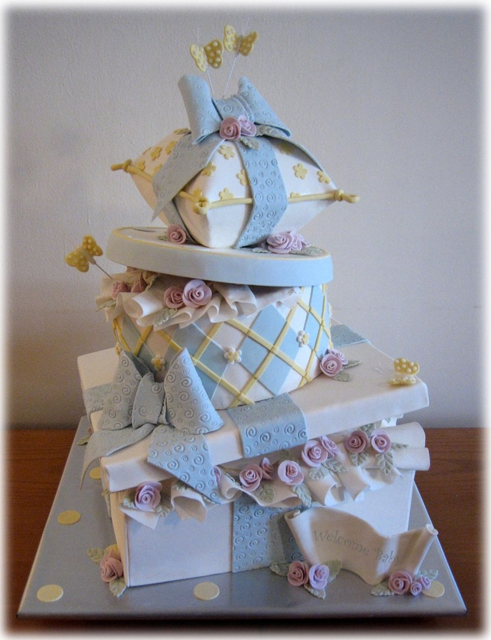 baby boy whimsy cake
