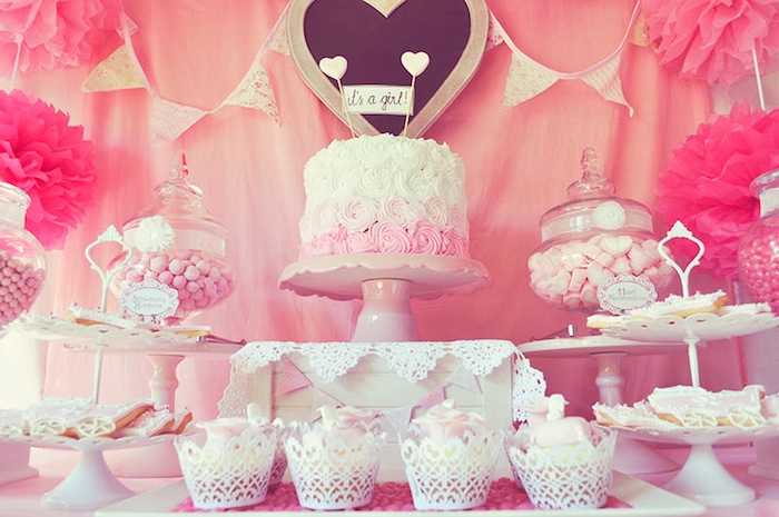 Pink FairyTale Baby Shower Or Birthday Party Ideas