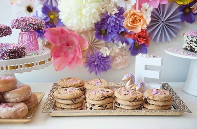 unicorn-dessert-table-kids-birthday-cookies