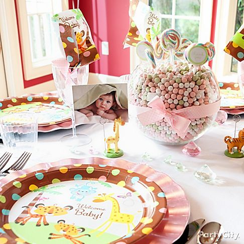 whimsical jungle baby shower
