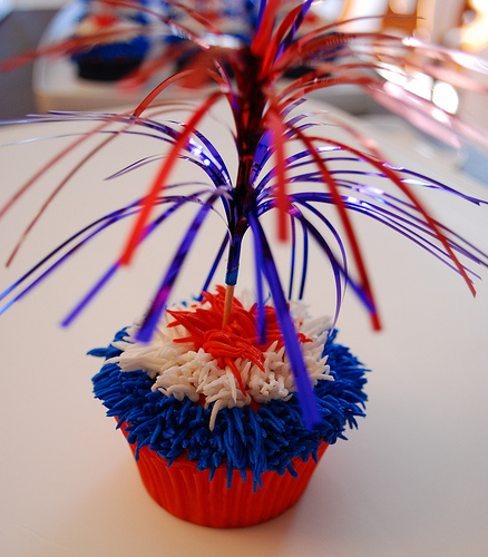 4th-of-July-Fireworks-Cupcake