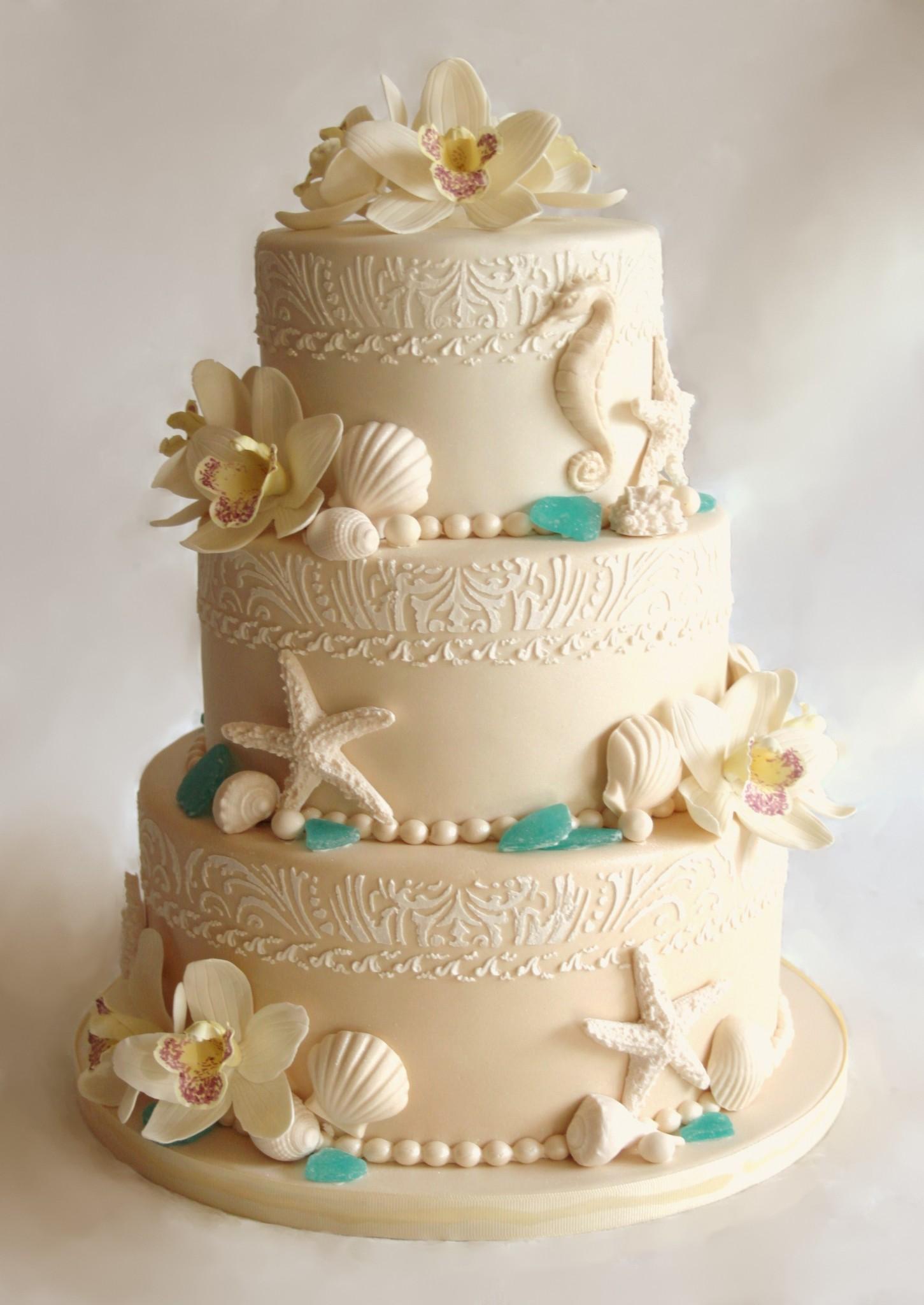 Best-Beach-Theme-Wedding-Cakes