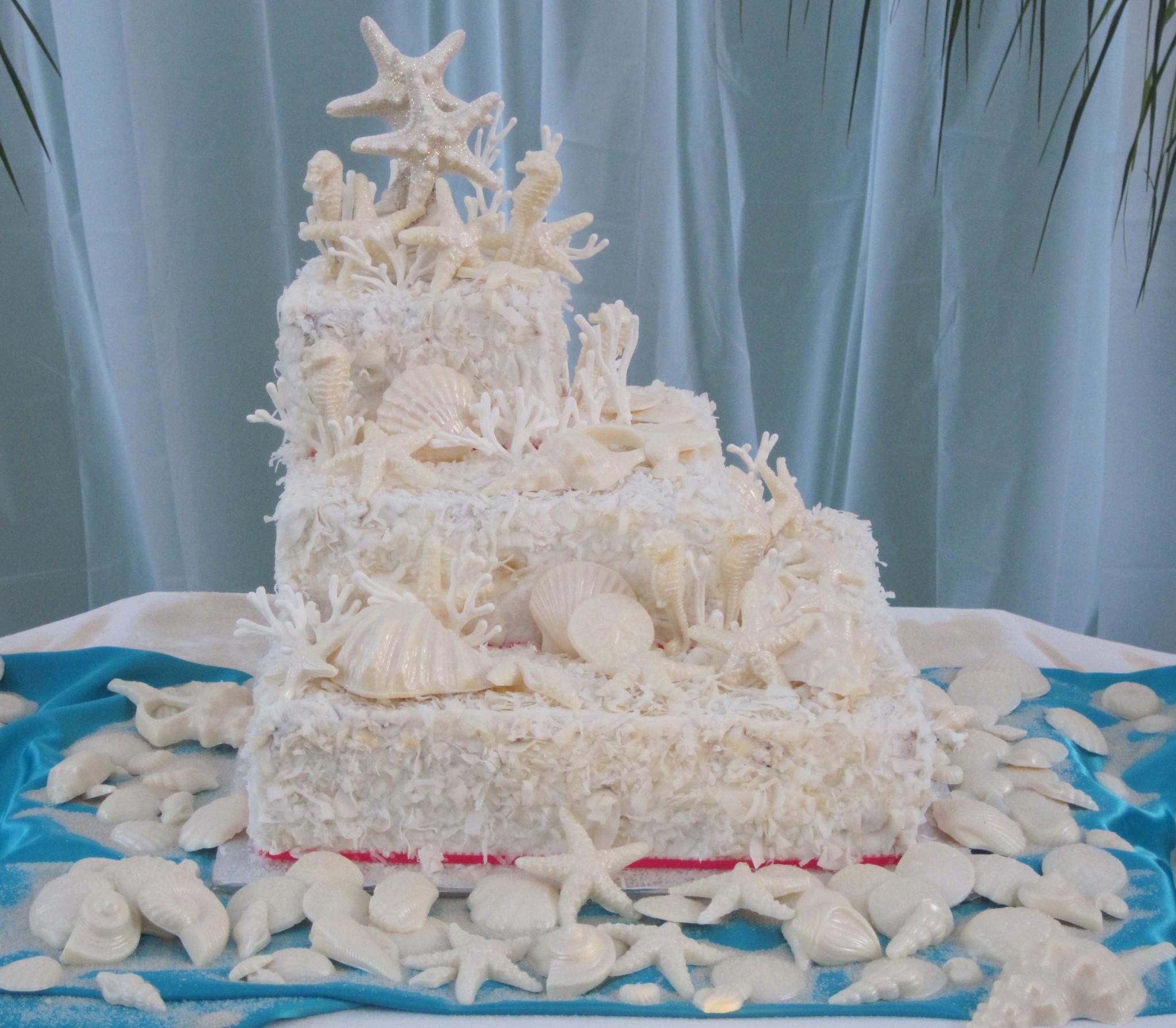Gorgeous-Beach-Wedding-Cakes