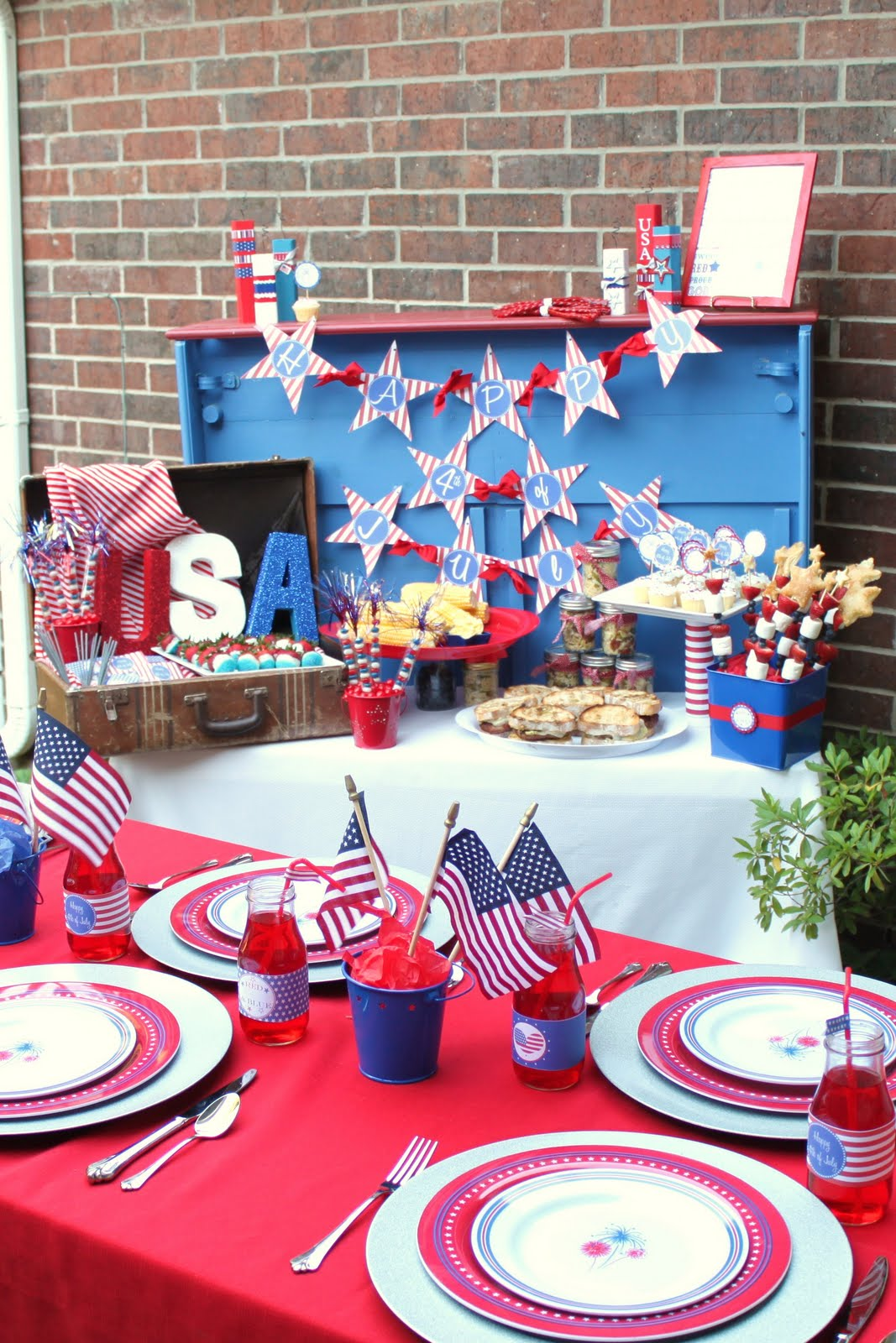 Cute Fourth Of July Decorations By Gigglesgalore Img 3017