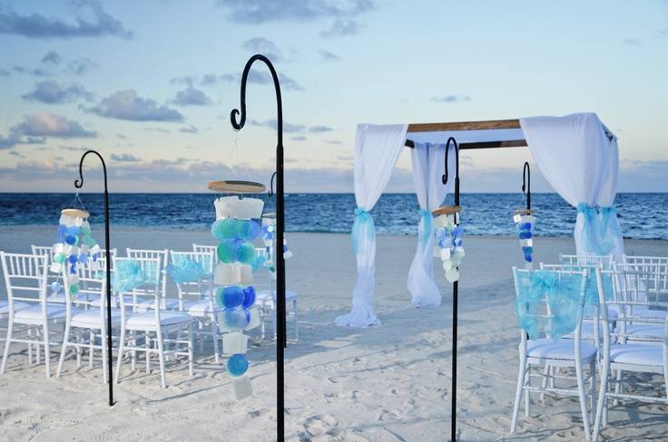 blue beach wedding