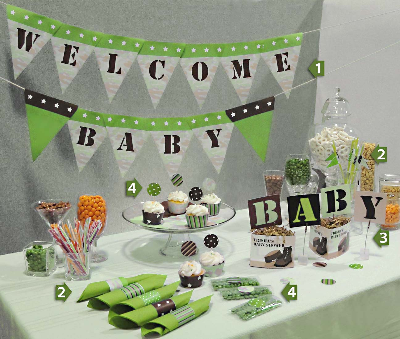 Green Baby Shower | Time for the Holidays