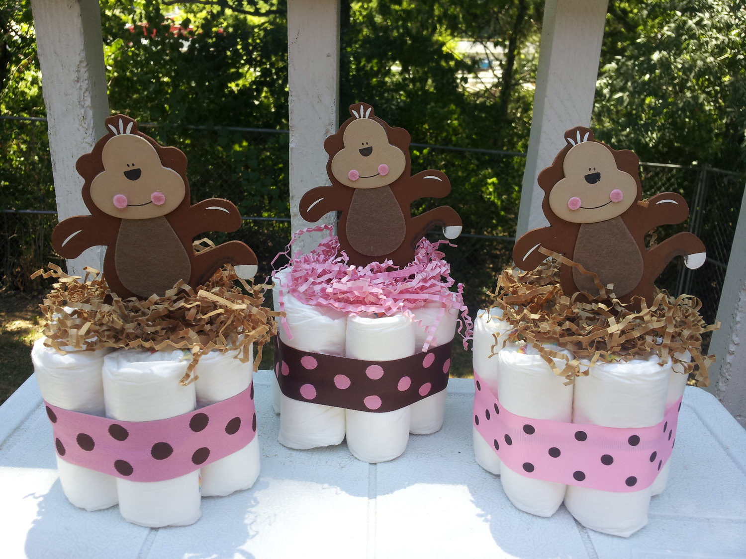Lovely Monkey Themed Babyshower Time For The Holidays