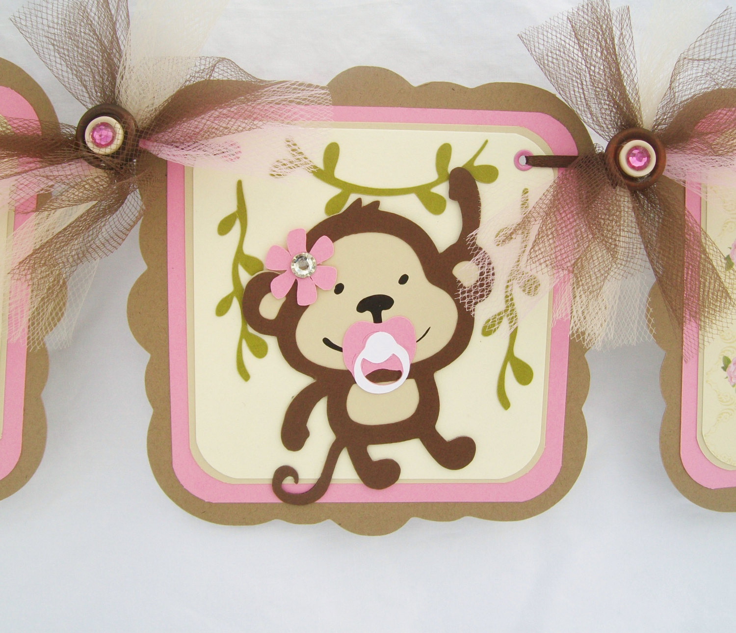 Monkey themed babyshower time for the holidays monkey banner solutioingenieria Images