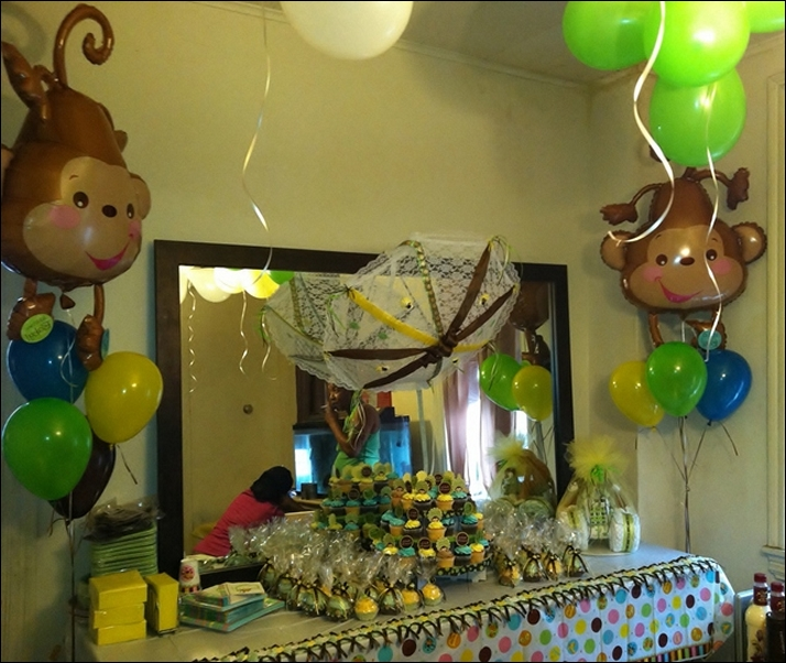 pink-and-brown-monkey-baby-shower-decorations