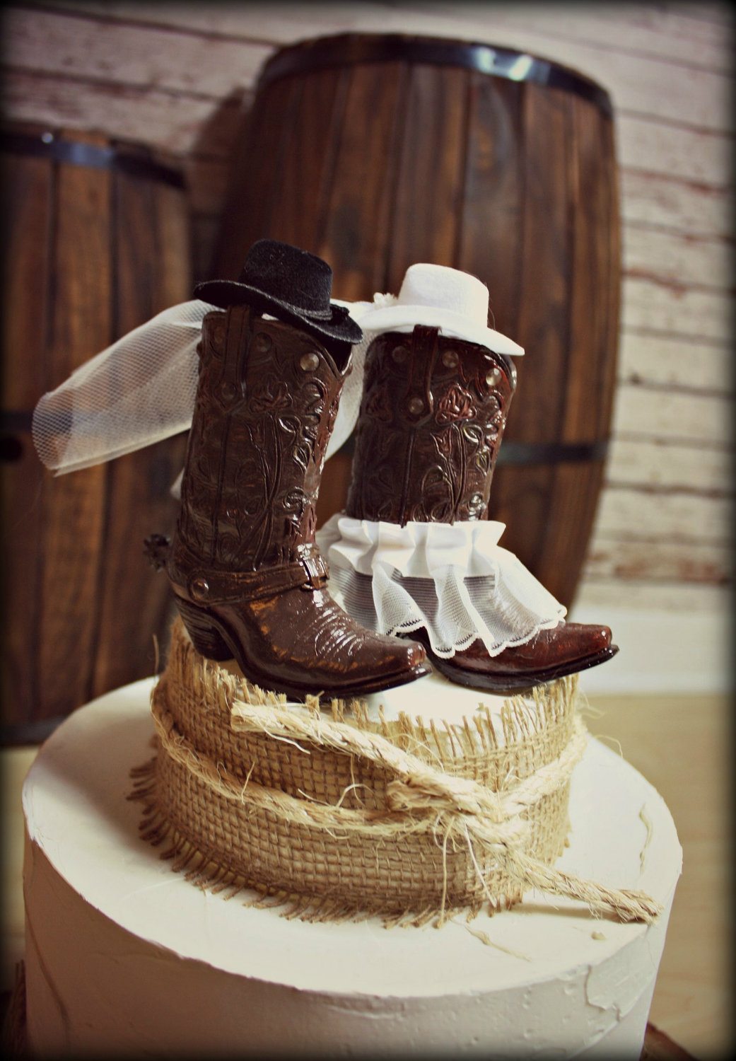 western-cake-top