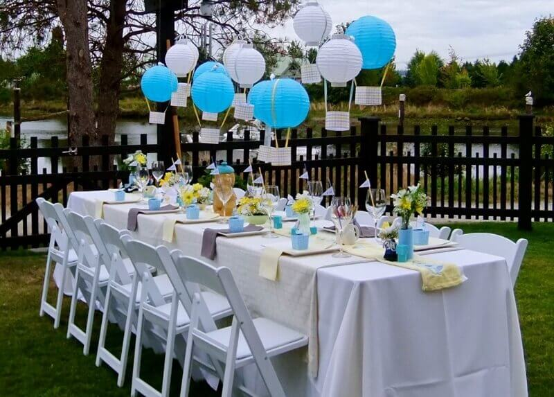 Cute Outdoor Baby Showers Time for the Holidays