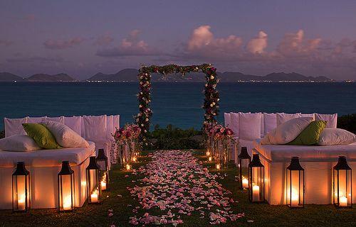 evening-wedding-beach-weddings-pinterest