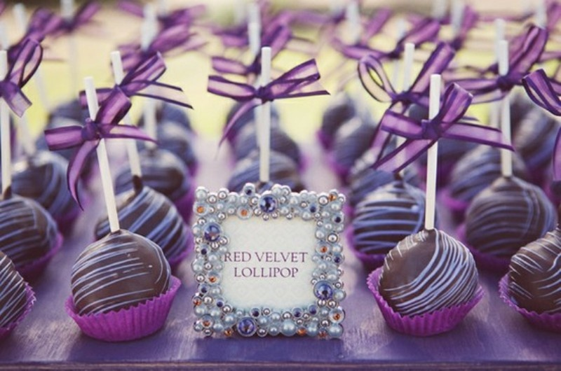 Planning a purple wedding time for the holidays red velvet cupcakes junglespirit Images