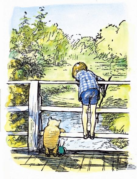 Motisfont-Christopher-Robin-and-Pooh-playing-poohsticks-®-The-E.H.-Shepard-Trust-reproduced-by-permission-of-Curtis-Brown-Group