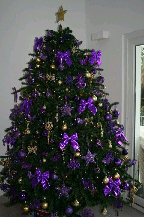 big purple holiday tree - Purple Christmas Tree