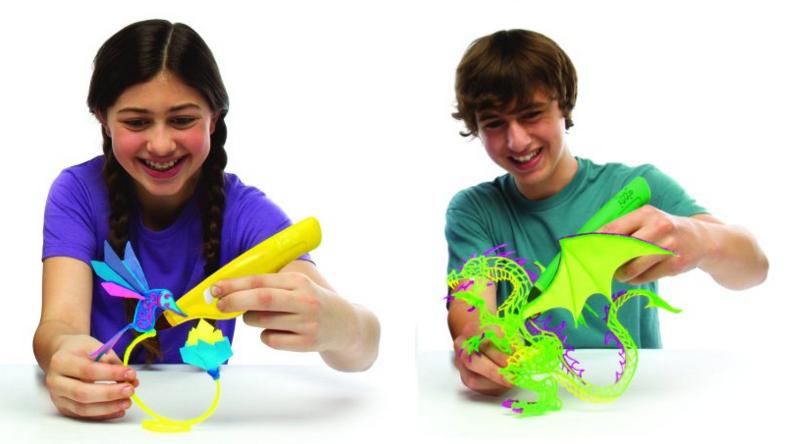 kids making 3-d art