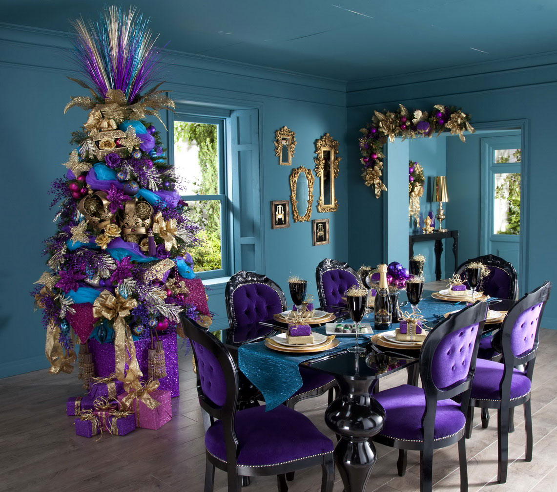 turqouise and purple chrismtas : new christmas tree decorating ideas - www.pureclipart.com