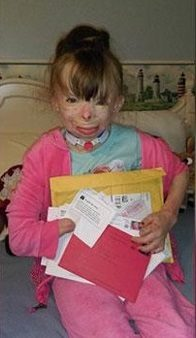 little girl who loses family in fire asks for CHristmas cards
