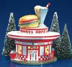 50s diner village christmas