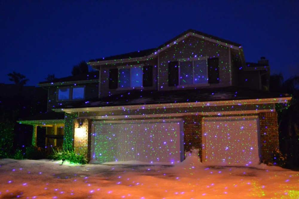 how to set up christmas light projector