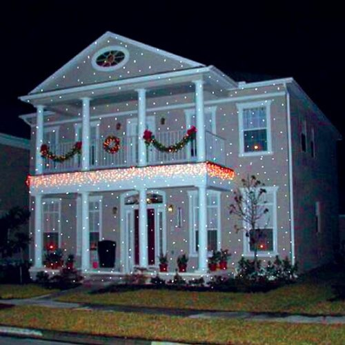 christmas light projections that are really pretty