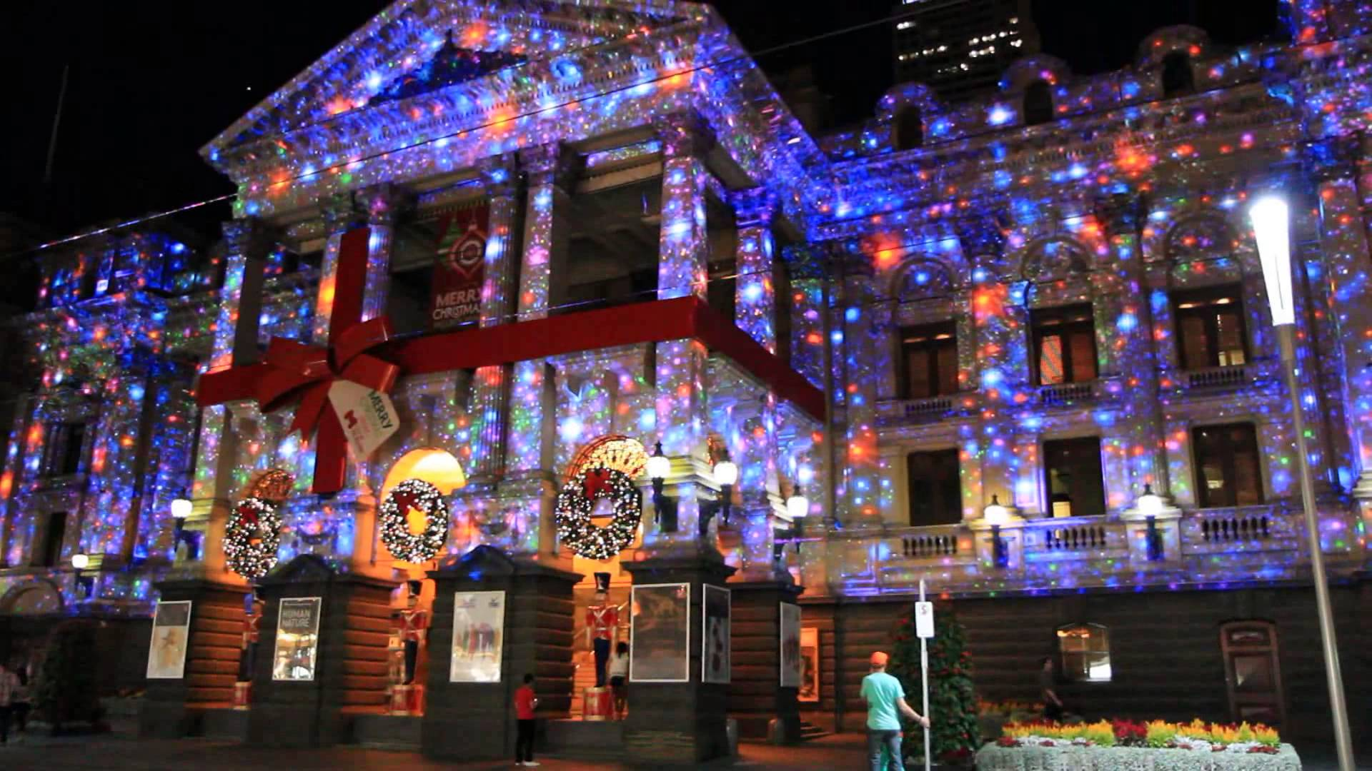 Pretty Christmas lights using projectors