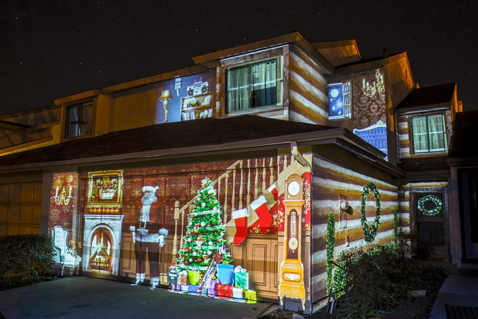 Chrismtas LIght projections
