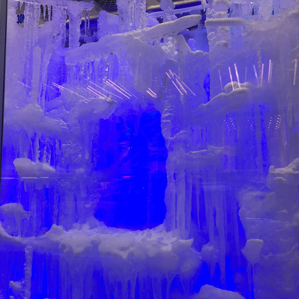 ice sculptures at barneys in new york city