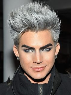 Perfect Adam Lambert Rocking The Grey Hair. 35115f789257d2fada4397cc9d75212d