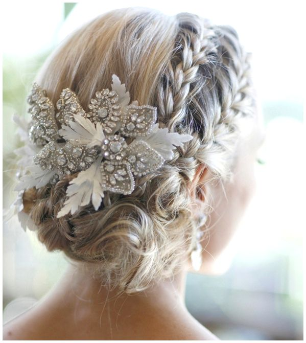Braided Wedding Hairstyles With Veil