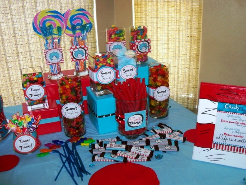 whimsical dr seuss candy buffet by