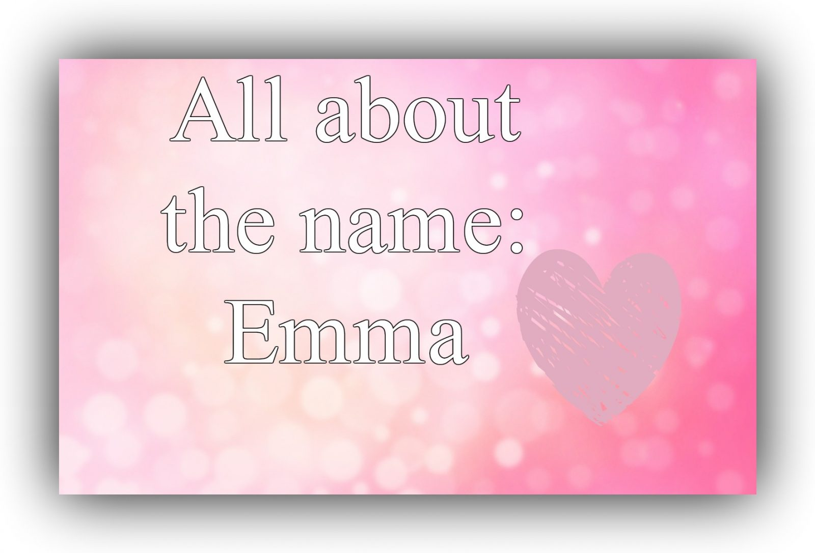 most popular name is Emma