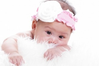 cute baby in pink