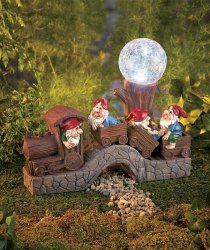 silly funny garden gnomes