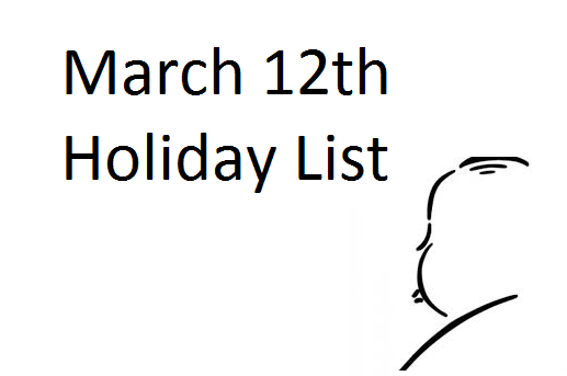 march-12-holiday-list
