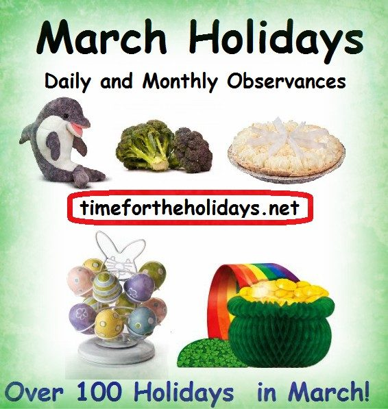 list of daily holidays in march