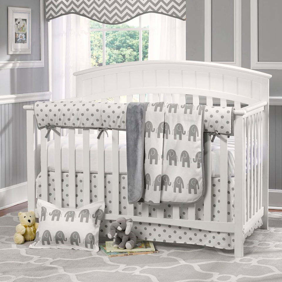 american baby company heavenly soft minky dot 4 piece crib set white