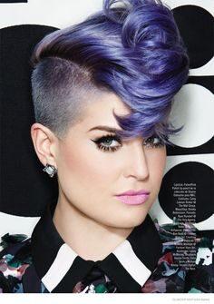 celebrities with purple hair