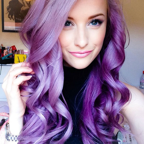 purple hair, wigs, extensions