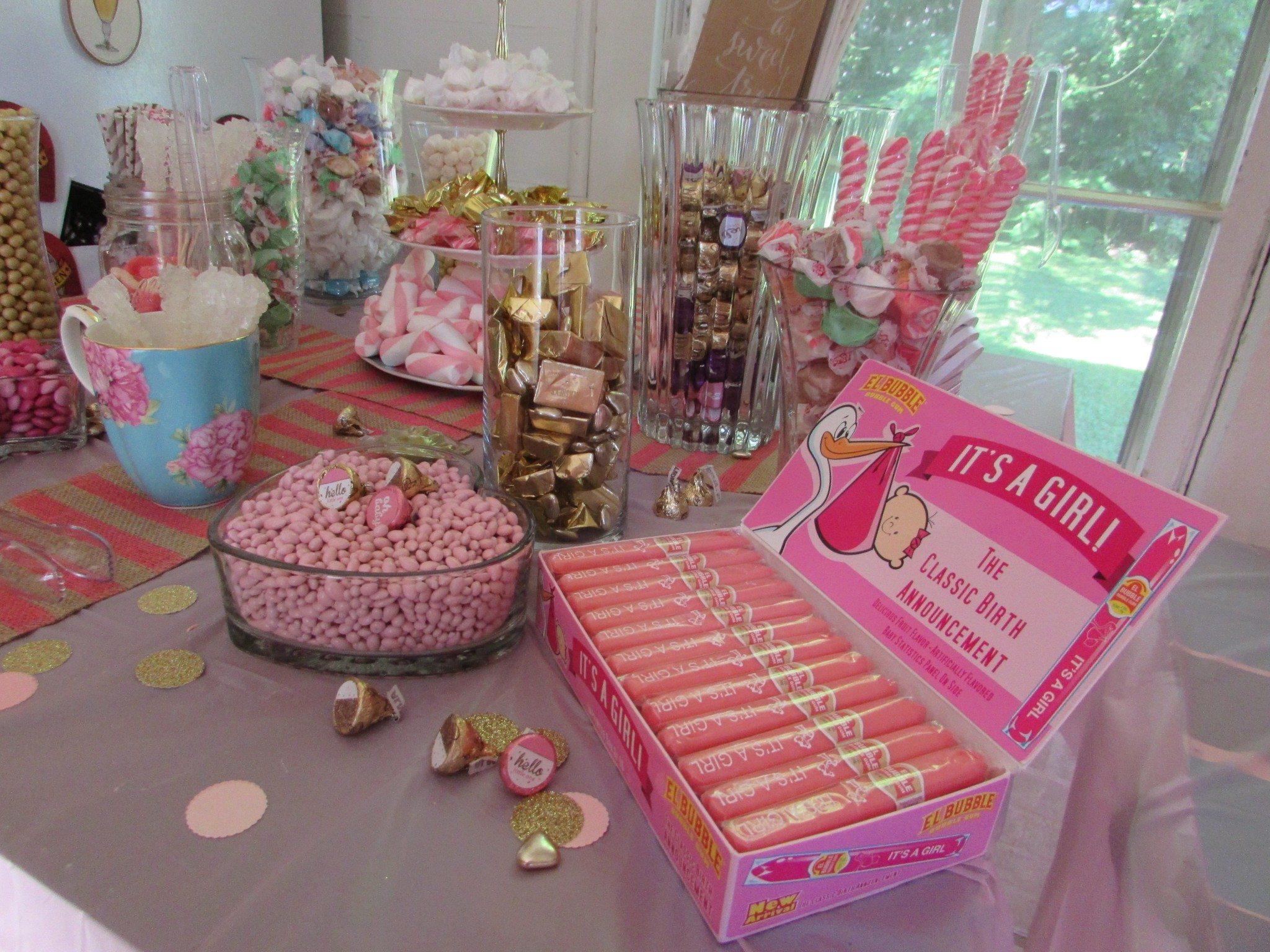 a full plus colors with food shower sayings together ideas table boy candy girl sweets in sweet decorations of dessert size for baby conjunction pink