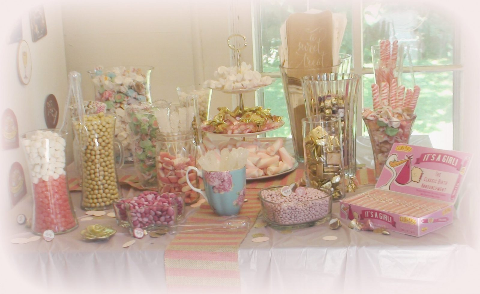 how to make a baby shower candy bar