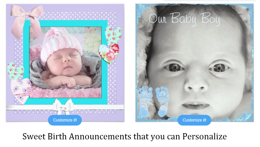 birth announcements you can personzlie