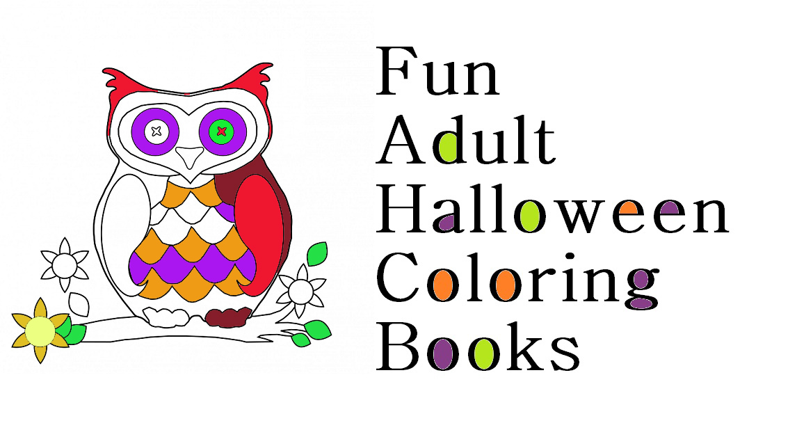 Halloween Adult Coloring Books Time For The Holidays