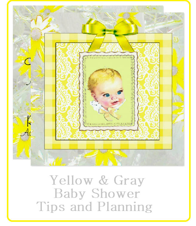gray and yellow baby shower planning