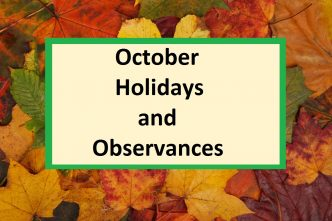 list of holidays in october