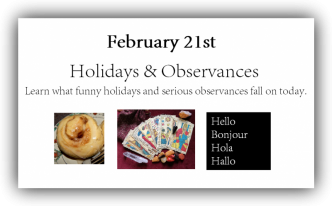 todays holidays and observances