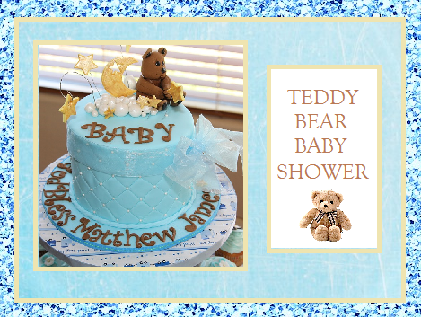teddy bear baby shower time for the holidays