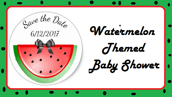 watermelon themed baby shower