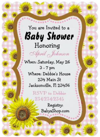 Sunflower baby shower time for the holidays filmwisefo
